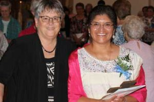 Sr. Reyna Badillo Professes First Vows As DBQ Franciscan Sister