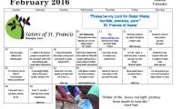Sister Water Committee Creates Lenten Calendar