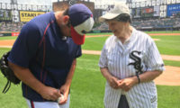 Sister Ann Rubly Throws Out First Pitch at Chicago White Sox Game