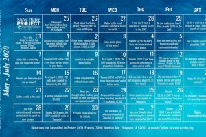 Sister Water Project Committee Creates Summer Calendar