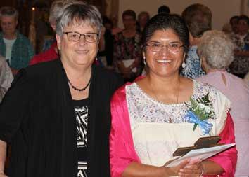 Sr. Reyna Helen Professes First Vows As DBQ Franciscan Sister