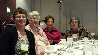 From L To R: Sisters Nancy Miller, Mary Hauber, Carol Ann Bertie, And Lois Erpelding At The Franciscan Federation Conference In Indianapolis.